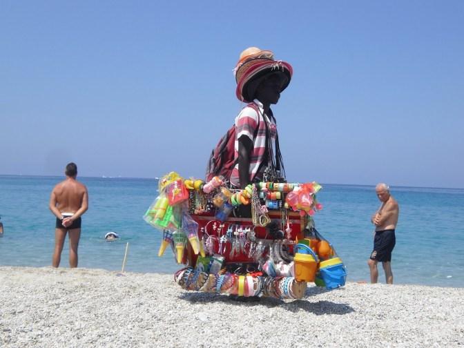 africano su spiaggia