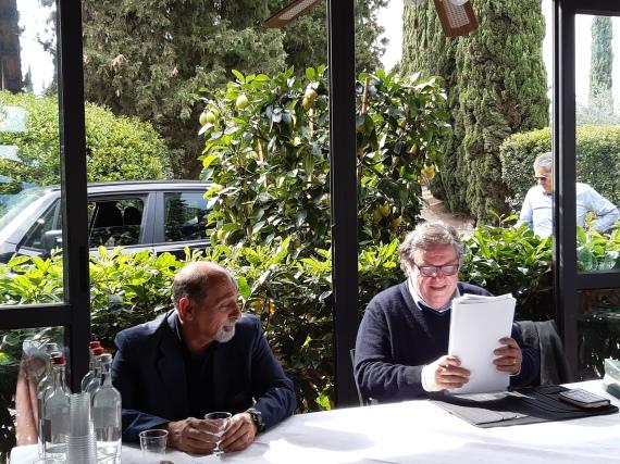 L'astronauta Umberto Guidoni e il Presidente di World SF Italia Donato Altomare