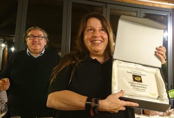 il Presidente Donato Altomare e Franci Conforti, vincitrice della sessione romanzi