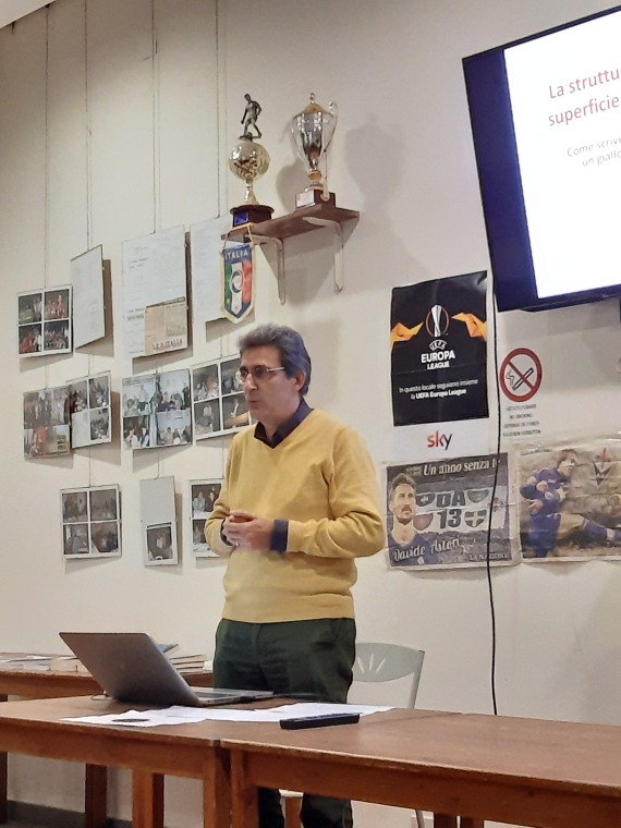 Sergio Calamandrei all'ASD Laurenzina il 29/10/2019.